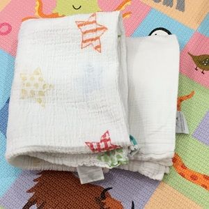 Swaddle blankets (Aden +Anais and Bubble)